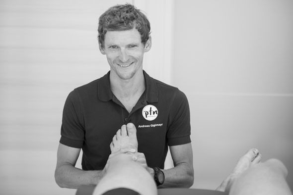 Physiotherapeut Andreas Giglmayr
